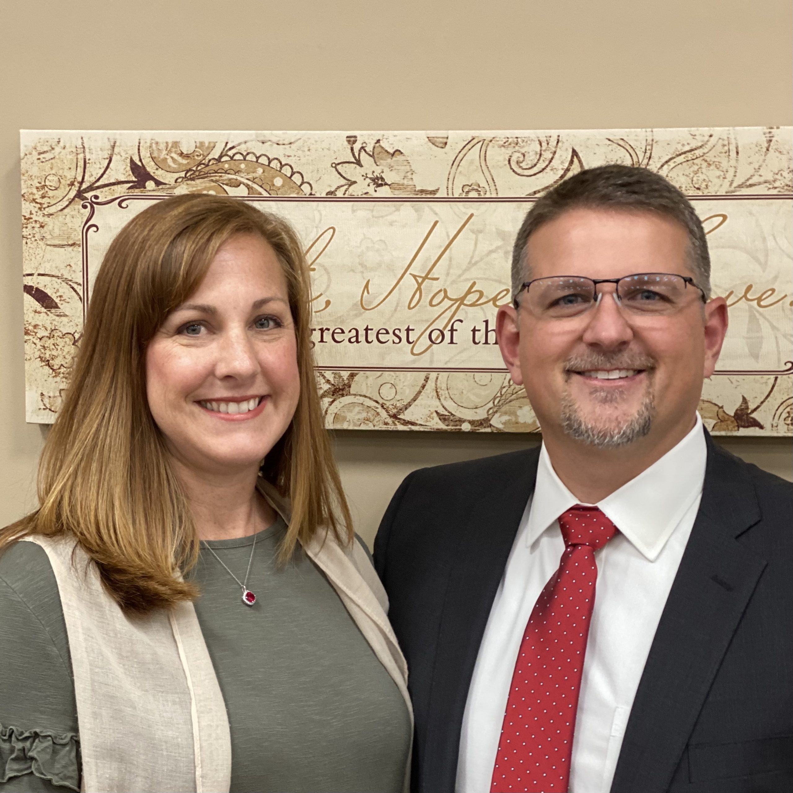 Senior Pastor Zad Tomberlin and wife Tory